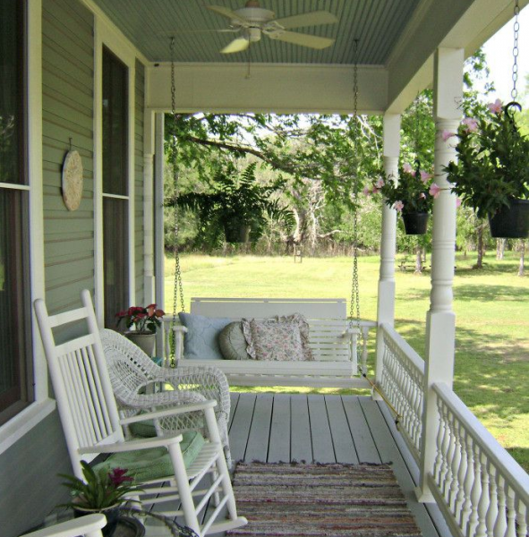 Teras ve veranda: Bir kır evine başarılı bir ek