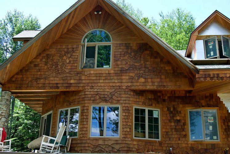 отделка фасада деревянного дома фото застал времена совсем