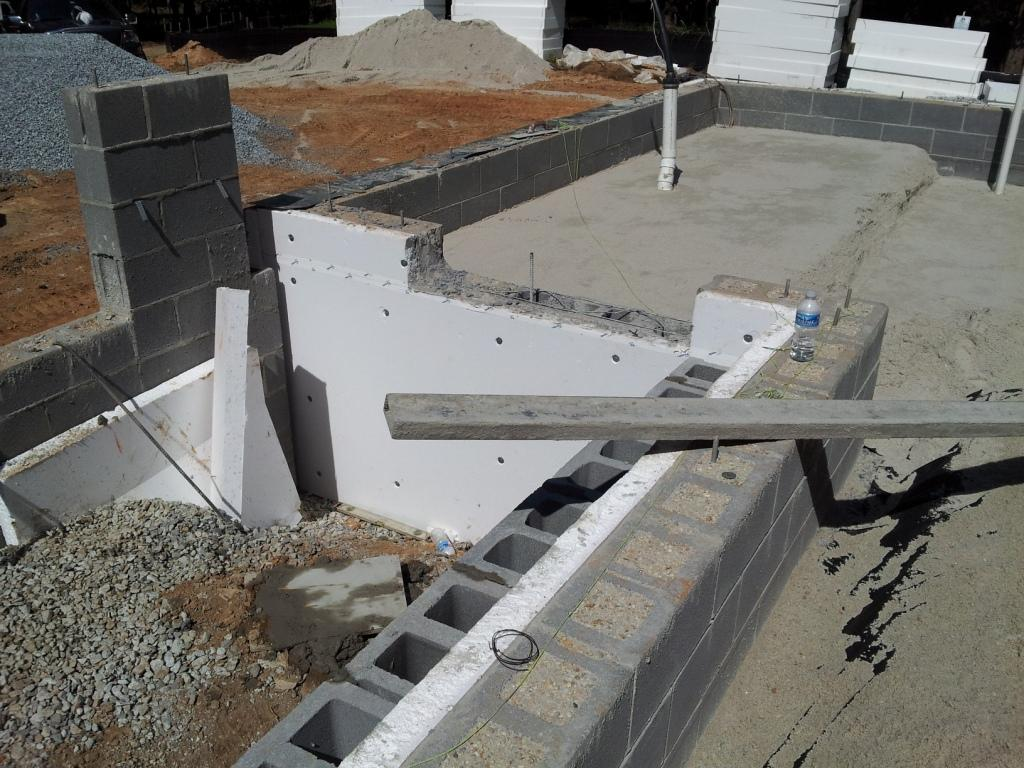 Tape foundation from FBS blocks 91