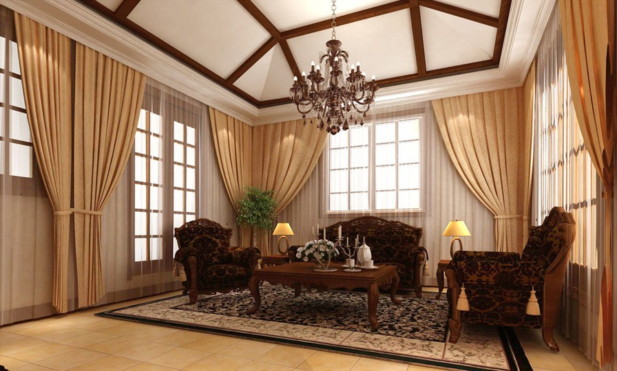 Brown Portieres Brown Curtains In The Living Room A Worthy Choice